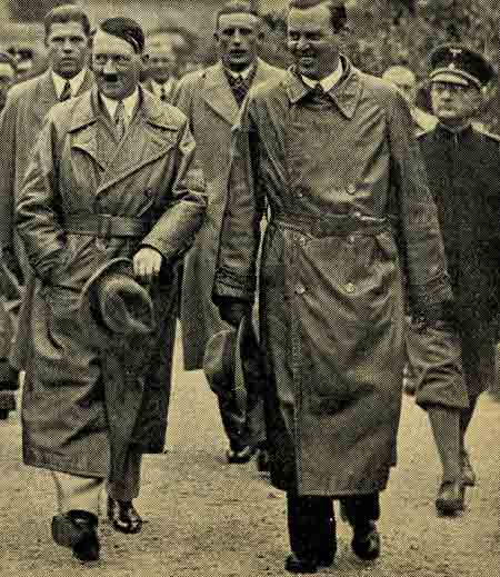 Adolf Hitler visiting the place where he wrote Mein Kampf.