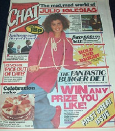 First issue cover of Chat magazine
