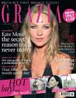 Grazia launch issue cover with Kate Moss