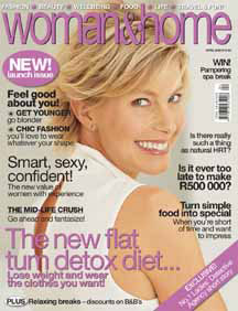 Woman & Home launch cover South Africa: magazine cover design example