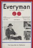 Everyman magazine pre-launch cover in 1933 with Beaverbrook on the cover