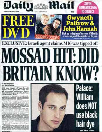 Daily Mail: MI6 exclusive