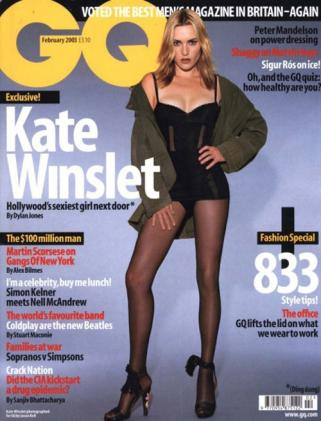 GQ cover with Kate Winslet