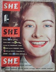 The first issue of She in March 1955
