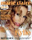 Marie Claire cover with Kylie Minogue