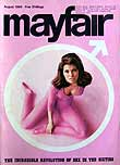 Mayfair men's magazine august 1966 first issue cover