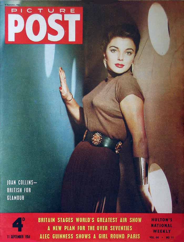 Joan collins on the front cover of weekly picture post 11