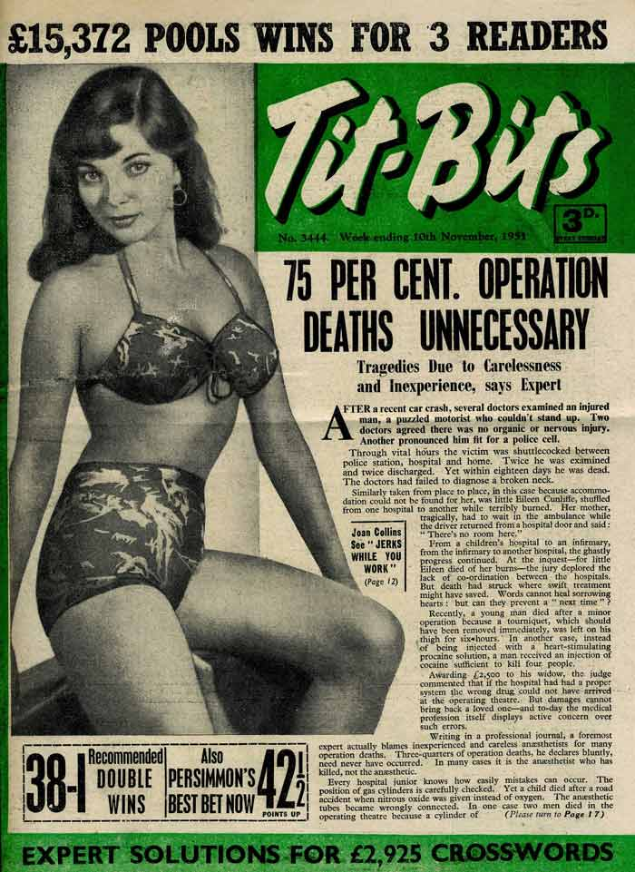 Image result for tit-bits newspaper